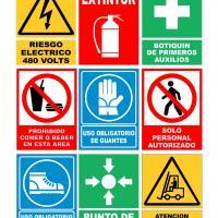 Letreros seguridad industrial